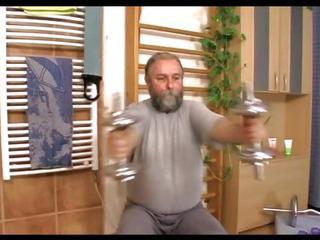Grandpa fucking a big-titted babe
