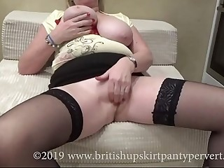 British Granny with amazing tits gets perved