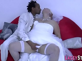Horny granny likes captured cock in her vagina