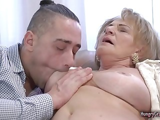 Sexy Blonde Granny Enjoys Gonzo Banging