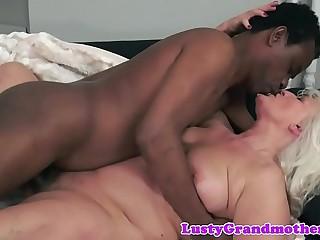 Amateur european grandma banged interracially