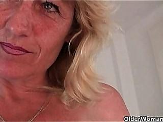 Horny grandmas wet cunt