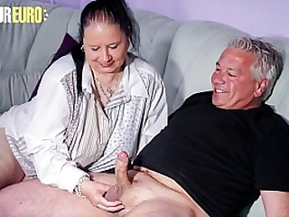 AMATEUR EURO - Handsome Chubby Granny Abby Titts Enjoys To Deepthroat And Fuck On Cam