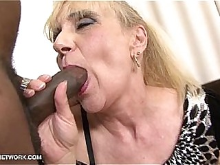 petite Granny In Ass Interracial with younger guy straight porn