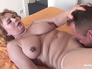 Horny german granny fucks a bearing patient