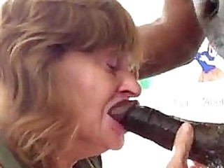 Granny Gets Her Throat Demolished By BBC - More at cuntcams.net