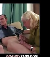 Granny Convinces Shy Teen To Deep-throat Old Cock