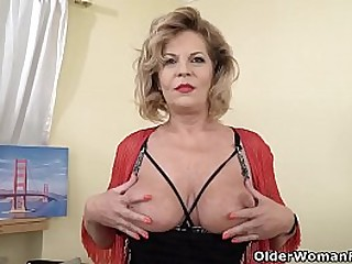 Euro gilf Ellis Shine pleasures her old pussy in every which way she can. Bonus video: European granny Gigi.