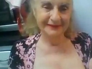 Old Granny Flashes her Boobs on Webcam - More at cuntcams.net