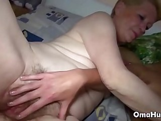 Threesome with granny