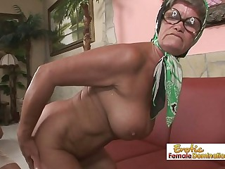 Hot granny is always in the mood for a hard-core fuck