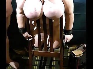 Granny udders tied and abused