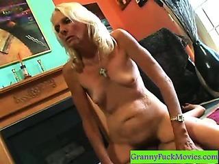 Old fur covered slut doing a RCG