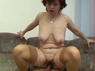 granny gets her hairy pussy spread