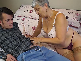 Granny Savana Screwed by Youthful twink menacingfearsome AgedKitchen