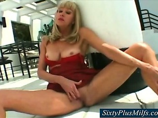Hot mother in law in the garden