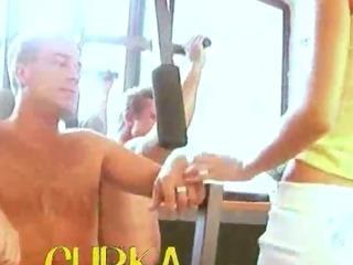 fairhair babe at gym gangbanged hard