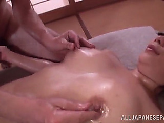 Oriental chicks have an fuckfest with lustful old males
