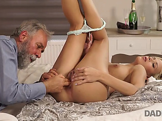 Daddy4k.fearsome old dude gave gracious blond ria sun dicking