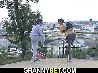 Stranger picks up and bonks old granny