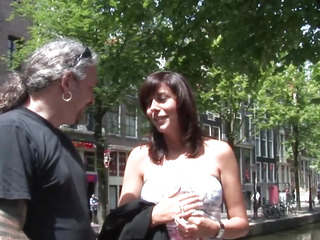 Doggystyled amsterdam prostitute acquires cumshowered