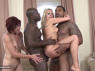 Matures In Hardcore Interracial Group Lovemaking Facial cumshot Cum