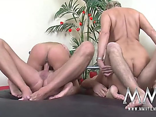 Older swinger doxies ride knobs and cum hard