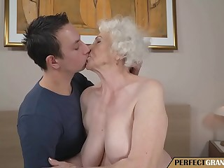 young man fucks a truly old mother