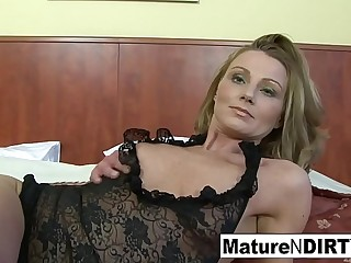 Blonde mature gets interracial anal and a facial cumshot