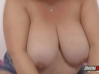 desperate granny with huge knockers