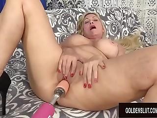 Orgasmic Machine Sex with Busty Blond GILF Cala Craves