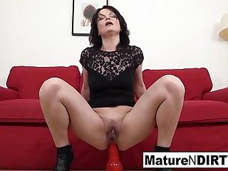 Brunette mature needs a huge black hard-on to fuck her ass