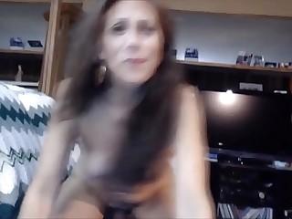 amazing mom deep throating the dildo