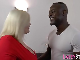 Busty granny Lacey Starr gets ass nailed