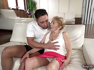 Sexy granny with big boobs loves big cock