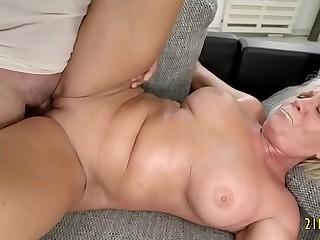 Fantastic Granny With Big Tits Nails With a Big Cock