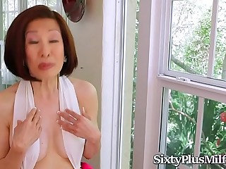 Asian Granny Enjoys Anal With ?2 Hard Cocks