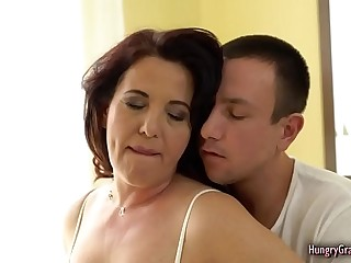 Wild Granny Cant Resist Fucking With a Big Dick
