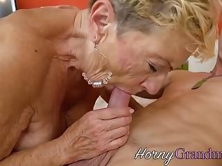 Grandma takes cumshot