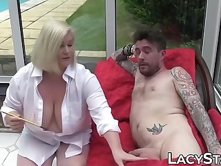 Artistic GILF Lacey Starr rails hard for creampie