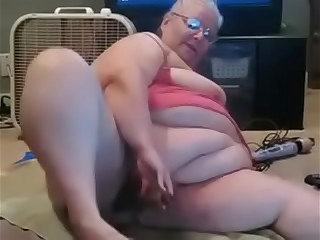 Granny have joy with her fucktoys